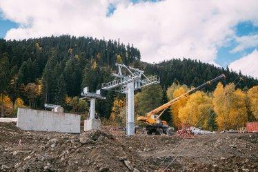 """Завершается строительство канатной дороги на северном склоне ВТРК """"Архыз"""""""